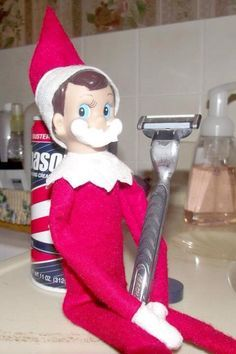 Elf On The Shelf: A Christmas Tradition!! Have a ball with this cheeky little…
