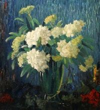 Stilleven met hortensias, Guillaume Eberhard