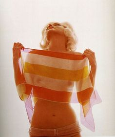 She was the wind that takes shape as it blows around a sacred figure. Bert Stern