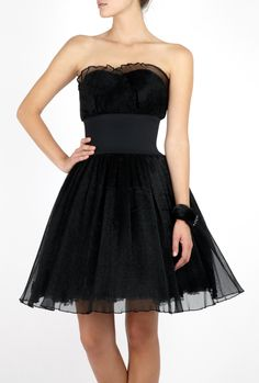 dark clothes | Manoush | Black Strapless Marilyn Dress by Manoush