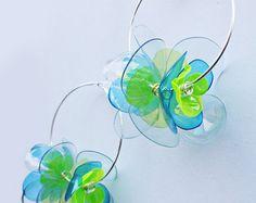 Flower Charm Bracelet Pearl Bracelet Yellow by EnnaJewellery