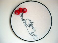 Embroidered Ballons {xox}: Cutest embroidery EVER