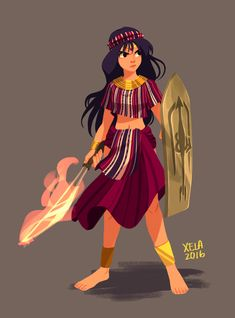 I redesigned Sailor Mars as a Filipino Tribal Warrior Character Design Sketches, Character Design References, Character Design Inspiration, Character Illustration, Philippine Mythology, Philippine Art, Dnd Characters, Fantasy Characters, Female Characters