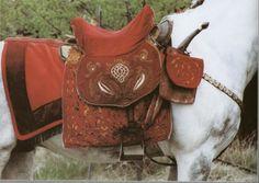 17th-century hussar saddle reconstruction
