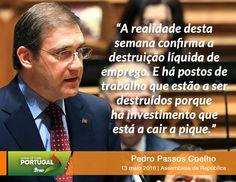 Pedro Passos Coelho, Presidente do Partido Social Democrata, no Debate Quinzenal na Assembleia da República. 13 de maio de 2016 #PSD #acimadetudoportugal