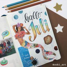 #welcomepage #bulletjournal #bulletjournaling #spread #willkommensseite #juli