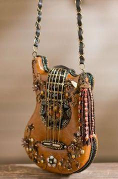 Mary Frances Hall Of Fame Guitar Carmel Brown Handbag $249.00