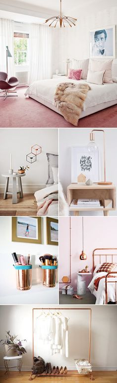 Grey and rose gold room pinterest tashtate4 b e d r o for Bedroom ideas rose gold