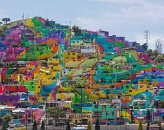 Art project turns Mexican barrio into a giant mural http://ind.pn/1UiMouX