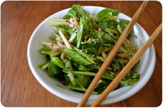 i've been trying to work pea shoots into my life ever since i tried this kohlrabi slivers and pea shoots with sesame dressing. though you can cook them, i'm not all that into the wilty texture in c...