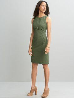 side pleat dress