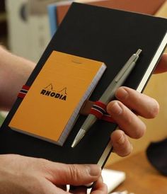 Rhodia Webnotebook with Delfonics Pen Strap, Rhodia Pad and Lamy Pen by NoteMakerStationery, via Flickr
