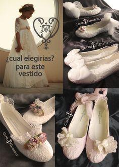 Tipos de banquetes de comunión y Mon air zapatos - Corte Flamenco