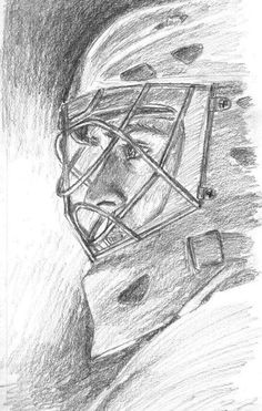 Carey Price, that is an amazing drawing! Montreal Canadiens, Hockey Drawing, Goalie Quotes, Hockey Gifts, Goalie Mask, Hockey Goalie, Vancouver Canucks, Sports Art, Les Oeuvres