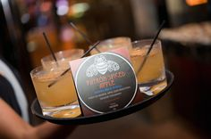"""Using small placards when serving your cocktails avoids endless questions of """"what's in this"""" allowing more time to mingle"""