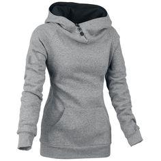 """Forplay Girl-Kapuzenpulli """"Airy"""" Frauen grau - jetzt erhältlich! EMP - Love this hoodie!!"""