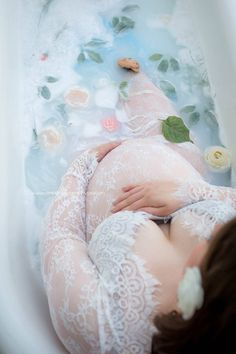 Milk bath session | Pittsburgh PA Maternity & Newborn Photographer www.ampphotographypa.com