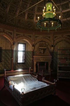 Castell Coch, Cardiff, Wales, UK - Lady Bute's bedroom | Flickr - Photo Sharing!