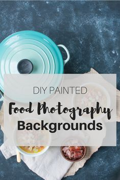 DIY Painted Food Photography Backgrounds | how to paint easy and quick backgrounds for food photography | www.nourishnutritionblog.com via @nourishnutrico