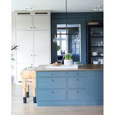 Bilderesultat for blått kjøkken