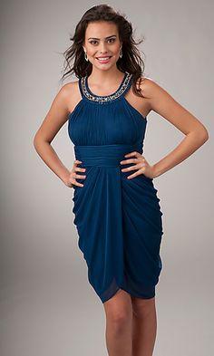 header=[Short Blue Greecian Dress  ] body=[] fade=[on]