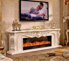 living room decorating warming fireplace wooden fireplace mantel electric fireplace insert LED optical artificial flame-in Fireplaces from Home Improvement on AliExpress Wooden Mantel, Wooden Fireplace, Fireplace Tv Stand, Fireplace Inserts, Living Room With Fireplace, Fireplace Mantels, Living Room Decor, Beach Fireplace, Stone Mantel