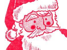 Santa Sketch by Brad Woodard