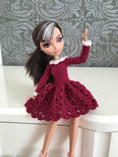 Beautiful dress for Ever After High Doll by DianaWeddingBoutique