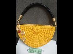 crochet bag semicircle - past 1- crochet Hương Nguyễn - YouTube