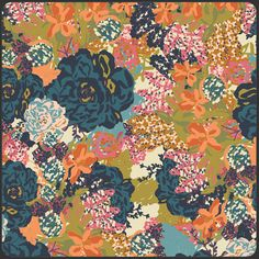 $8.95 Bari J. for Art Gallery, Splendor 1920, English Garden in serene, 1 yard