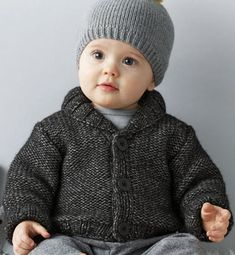 Knitting For Kids, Baby Knitting Patterns, Baby Patterns, Knitting Projects, Pull Bebe, Baby Sweaters, Little People, Knitted Hats, Crochet