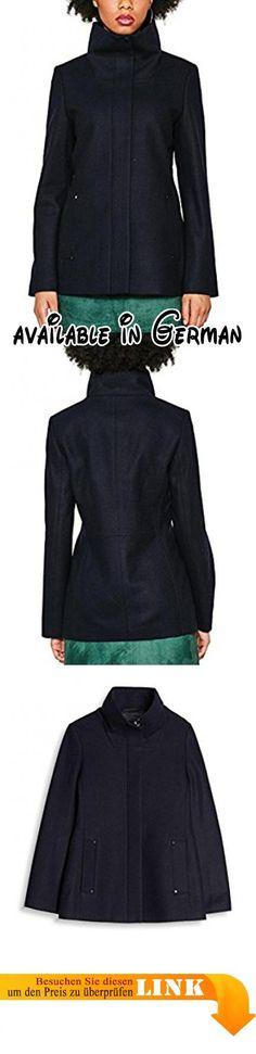 B0733G9FYC : ESPRIT Damen Mantel 087EE1G005 Blau (Navy 400) X-Large. #Apparel #OUTERWEAR