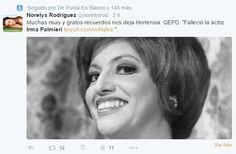 Así se despiden de Irma Palmieri en Twitter   El Estimulo