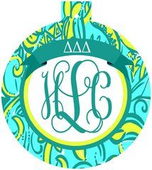 Tri Delta Lilly Monogram Ornament