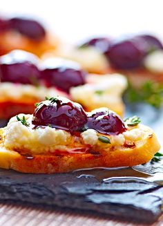 Goat Cheese and Cherry Bruschetta is a simple recipe to pull together.