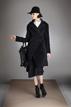 Malloni black coat wool // Shop at store.malloni.com