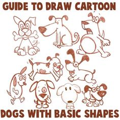 easy doodle husky dog tutorial - Google Search