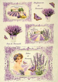 Rice Paper -Lavender- for Decoupage Decopatch Scrapbook Angel Flowers, Lilac Flowers, Paper Napkins For Decoupage, Decoupage Vintage, Lavender Blue, Lavander, Heaven Sent, Circle Shape, Rice Paper