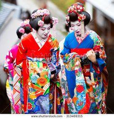 KYOTO, JAPAN - NOVEMBER 20: Maiko in Kyoto, Japan on November 20,