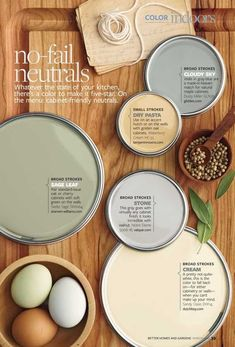 I like the Broad Stroke color for the hall and living room maybe. Dry Pasta or even sage leaf maybe for kitchen.