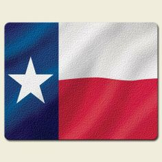 Texas Flag Lone Star 15 x 11.5 inch Tempered Glass Cutting Board by Highland Graphics. $19.99. Measures approx. 15 inches by 11.5 inches. Constructed of durable tempered glass. Dishwasher safe, heat resistant, safe on knives. Hygienic, easy to clean, and has protective clear rubber feet. This large cutting board's artwork and quality will provide enjoyment for entertaining and functionality in your kitchen or dining room. This product was printed and packaged in the USA.