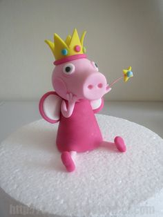 Peppa Pig Inspired Fondant CakeTopper on Etsy, $36.00