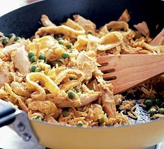 Monday Night Rice - One of our lets use up the chicken left overs recipes and it always goes down well. Pork Recipes, Chicken Recipes, Cooking Recipes, Rice Recipes, Easy Recipes, Savoury Recipes, Oven Recipes, Delicious Recipes, Yummy Food