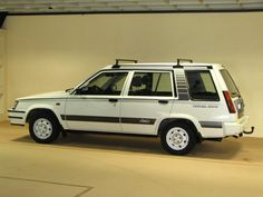 """Toyota Tercel """"Snow"""" 1986 - first car my parent's got me (?) - a white toyota tercel - stick shift! The transmission (reverse) finally went out on it. Toyota Tercel, Toyota Cars, Toyota Celica, Japanese Sports Cars, Japanese Cars, Shooting Brake, First Car, Twin Turbo, Station Wagon"""