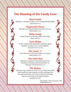 Meaning of the Candy Cane - PDF - FREE download