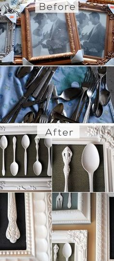 Trash Into Treasure, Silverware Artwork - DIY Home Decorating on a Budget - Click for Tutorial