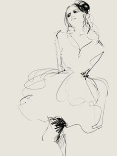 Fashion Sketch - stylish fashion illustration // Judith van den Hoek
