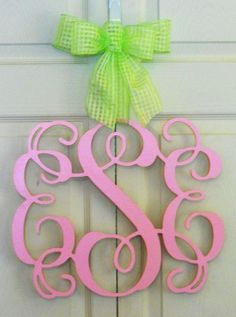 I so want this! My bday is around the corner :)))  14  Wooden Interlocking Monogram by TrendyTrimmings on Etsy, $35.00