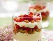 Verrines fraise mascarpone spéculoos