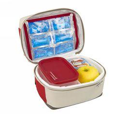 Sac déjeuner isotherme 2L avec 1 boîte rigide et 1 accumulateur de froid flexible PICNIC